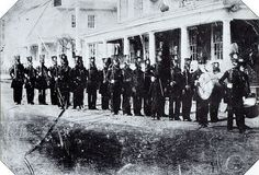 Daguerreotype may be the first showing troops in a parade ready to go to the Mexican War. 1846 New Hamshire