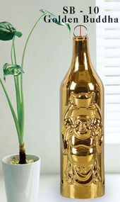 Incense Smoking Bottles - Golden Buddha