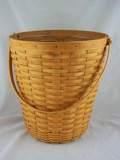 Longaberger 1999 Bankers Waste Basket w Protector | eBay