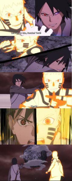 Naruto x Sasuke in Boruto against Momoshiki 😍 Naruto Vs Sasuke, Anime Naruto, Naruto Shippuden Anime, Manga Anime, Sasunaru, Madara Uchiha, Narusasu, Rock Lee Vs Gaara, Guerra Ninja