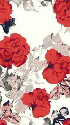 Red flower illustration/inspiration for surface pattern. Red flower illustration/inspiration for surface pattern. Floral Wallpaper Iphone, Flower Wallpaper, Pattern Wallpaper, Fabric Wallpaper, Wallpaper Color, Flower Backgrounds, Phone Backgrounds, Wallpaper Backgrounds, Desktop Wallpapers