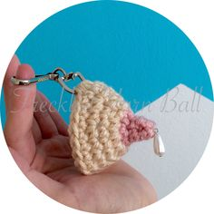 Lactating Breast Crochet Keychain - 3 Different Color Options by FreckledYarnBall on Etsy https://www.etsy.com/listing/205431183/lactating-breast-crochet-keychain-3