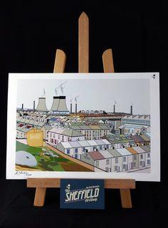 Sheffield art, Sheffield prints, yorkshire art, Sheffield, Goo-Design,matt Cockayne, prints, Sheffield gifts, Sheffield pic, Neepsend, Sheffield Steel pic,
