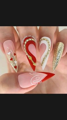 Glam Nails, Fancy Nails, Bling Nails, Stiletto Nails, Cute Nails, Nails Design With Rhinestones, Luxury Nails, Nagel Gel, Best Acrylic Nails
