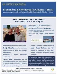 AMISP - ASSOCIAÇÃO MINEIRA DE SAÚDE POPULAR: 1º SEMINÁRIO DE HOMEOPATIA CLÁSSICA - BRASIL
