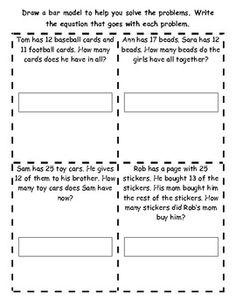 Bar Model Practice (part,part,whole) Math Fractions Worksheets, 2nd Grade Worksheets, Super Worksheets, Math Math, Printable Worksheets, Maths, Math In Focus, Bar Model, Math Addition