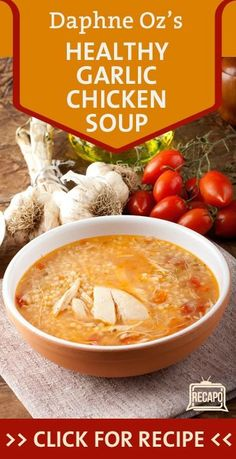 Daphne Oz took over the kitchen on The Chew. We all want to avoid cold and flu throughout the winter, so it's a good thing she made a Roasted Garlic & Chicken Soup Recipe. http://www.recapo.com/the-chew/the-chew-recipes/the-chew-daphne-ozs-healthy-roasted-garlic-chicken-soup-recipe/