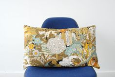 Retro Jungle Throw Pillow Made with Vintage by alivingspace, $32.00
