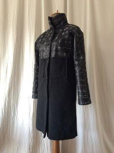 Wool-silk combination winter coat HAVRAN Unique Outfits, Winter Coat, High Neck Dress, Silk, Wool, Clothes, Dresses, Fashion, Turtleneck Dress