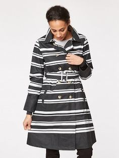 Create an effortless vibe in this luxe, waterproof trench coat. With front pockets, a detachable belt to enhance your waist and completely waterproof. The stripe is an update for the perfect workwear jacket. Waterproof Trench Coat, Natural Fiber Clothing, Work Wear, Organic Cotton, Raincoat, Alice, Men Casual, Stripes
