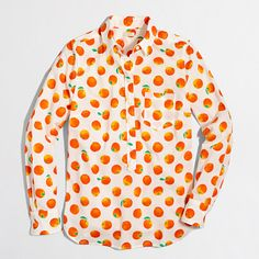 Factory Printed Voile Popover Shirt - $34.50
