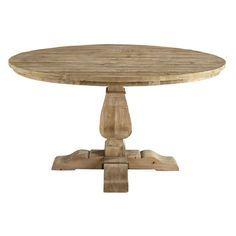 Tavolo rotondo in legno riciclato per sala da pranzo D 140 cm