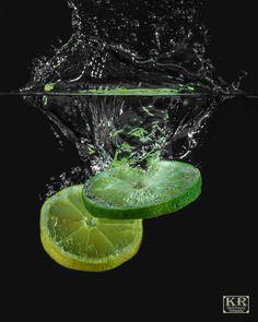Lemon Lime Splash by Kevin Russell / Motion Photography, Glass Photography, Fruit Photography, Still Life Photography, Macro Photography, Creative Photography, Splash Fotografia, Technique Photo, Water Art