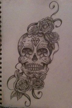 #art #tattoo #skull #drawing