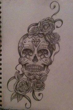#art #tattoo #skull #drawing