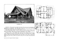 United States, No. 530 A large house with a rustic wraparound porch and balcony. In contrast with the rustic style, the house has a reception room in addition to the entrance. Cottages And Bungalows, Porch And Balcony, Story House, Entrance Hall, Reception Rooms, Rustic Style, House Plans, Pergola, Floor Plans