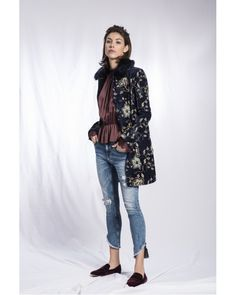 Cotton floral print coat from Rofa Fashions perfect for formal or casual wear. Ireland Clothing, Floral Jacket, Fashion Group, Jacket Dress, Casual Wear, Your Style, Floral Prints, Normcore, Stylish