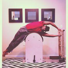 Barrel Rider @PilatesDwell_Canton   High Ladder Barrel: Short Box Series :: Side Stretch #stretch #obliques #sidebody • #pilates #pilatesstudio #pilatesinstructor #pilatesformen #contrology #classicalpilates #calisthenics #gymnastics #fitness #yoga #personaltrainer #menshealth #strengthtraining