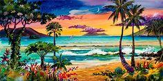 Hawaiian Artist Jim Kingwell's Wailea Moon