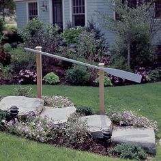 cute handrail for a lake cottage ~ Coastal Living ~ Float In Cottage