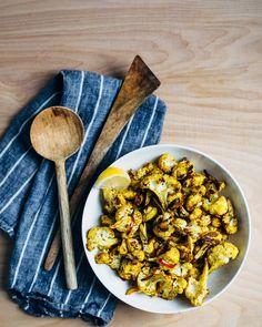 roasted cauliflower with cumin and turmeric // brooklyn supper