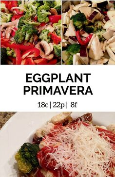 My eggplant primavera recipe is perfect when time is of the essence, but you still want a healthy dinner. It's a lower calorie version of pasta primavera.
