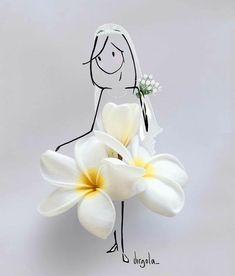 Flower Petals, Flower Art, Capa Do Face, Little Doll, Flower Fashion, Diy Art, Cute Art, Flower Designs, Creative Art