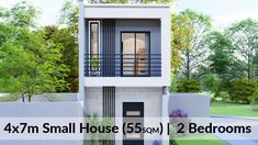Two Bedroom House Design, Small House Interior Design, Small Apartment Design, Tiny House Design, Architect Design House, Townhouse Exterior, Small Modern House Plans, 2 Storey House Design, Townhouse Designs