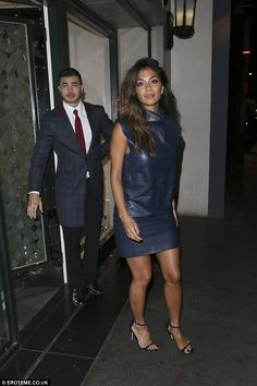 Stepping out: X Factor judge Nicole Scherzinger put on a leggy display as she…