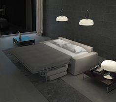 Sofá-cama 214 cm. sistema italiano, cama abierta 140 x 190 cm. con colchoneta HR. 25 Kg y funda acolchada.