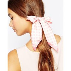 Johnny Loves Rosie Holly Spot Ponio Hairband (225 NOK) ❤ liked on Polyvore featuring accessories, hair accessories, pink, polka dot headband, headband hair accessories, hair bands accessories, pink hair accessories and head wrap hair accessories