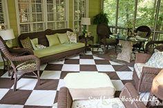porch ideas LOVE the floors