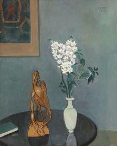 peira:  Einar Jolin: Stilleben med blommor (1955) via Stockholms Auktionsverk