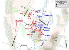 Valley Of Death, Gettysburg Battlefield, Union Army, Second Day, American Civil War, Maps, America Civil War, Blue Prints, Map