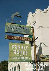 Pueblo Hotel sign, Tucson, AZ