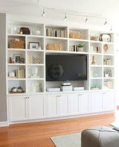 Living Room Shelves And Cabinets - Living . Living Room Shelves And Cabinets – Living Room Shelves And Cabinets – The living room shelves and cabinets is elegant for choosing the right home storage organizers ideas. Living Room Built Ins, Living Room Shelves, Living Room Storage, Living Room Tv, Condo Living, Dining Room, Apartment Living, Built In Cupboards Living Room, Wall Cabinets Living Room