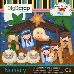 Chirstmas Nativity holly family