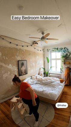 Small Room Design Bedroom, Room Ideas Bedroom, Home Room Design, Bedroom Furniture, Cozy Bedroom, Bedroom Decor, Home Interior Design, Indie Room Decor, Cute Room Decor