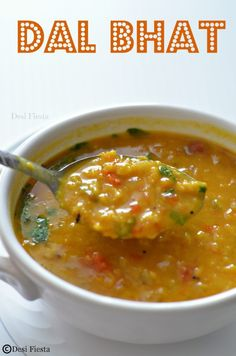 Dal Bhat ( Lentils and rice) South Indian Vegetarian Recipes, Indian Veg Recipes, Lentil Recipes, Curry Recipes, Asian Recipes, Soup Recipes, Cooking Recipes, Healthy Recipes, Ethnic Recipes