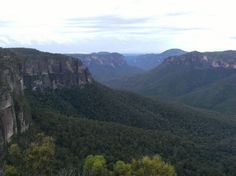 the view at Govett's Leap, the blue mountians