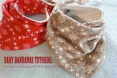Free Pattern and Tutorial: Baby Dribble Bib Bandana