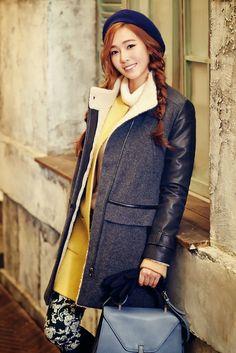"Jessica for fashion brand ""SOUP"" Fall/Winter 2014 Collection Ex Girl, Girl Day, Mamamoo, South Korean Girls, Korean Girl Groups, Girls Generation Jessica, Lee Hi, Ritu Kumar, Jessica Jung"