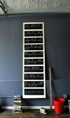 Penmanship Vintage Fonts cursive writting chart
