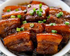 Pork Recipes, Asian Recipes, Cooking Recipes, Chinese Recipes, Chinese Food, Asian Pork Belly Recipes, Pork Belly Bao, Korean Pork Belly, Best Pork Belly Recipe