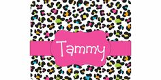 Personalized Mouse Pad Custom Leopard by FaithRibbonsDotCom
