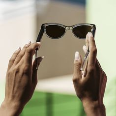 ➡️ they protect your eyes from the sun's UV rays ☀️  ➡️ they make you look cooler 😎  ➡️ they allow you to stare at people without getting caught 🕵🏼♀️ You Look, Cat Eye Sunglasses, Eyewear, How To Make, How To Wear, Audio, Eyes, People, Collection