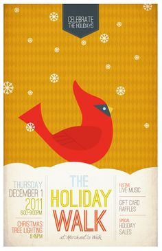 Holiday Event Poster 1of 4 in a series for Merchant's Walk, an EDENS center.