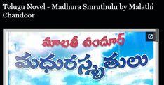 Telugu Novel - Madhura Smruthulu by Malathi Chandoor Free Pdf Books, Telugu, Reading Online, Novels, Fiction, Romance Novels