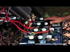 How to connect solar panels to battery bank, charge controller, Inverter