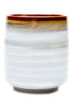 beautifully white glazed japanese tea cup